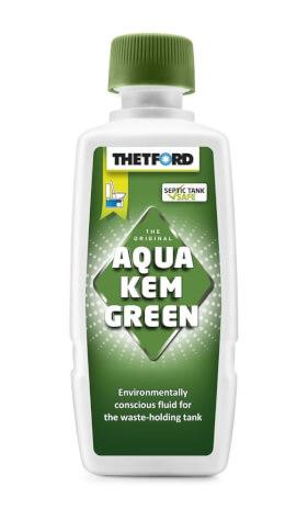 Zielony płyn do zbiorników na nieczystości w toaletach turystycznych 375 ml Aqua Kem Green Thetford