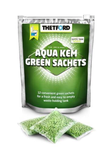 Saszetki Aqua Kem Green Thetford do zbiorników na nieczystości w toaletach turystycznych