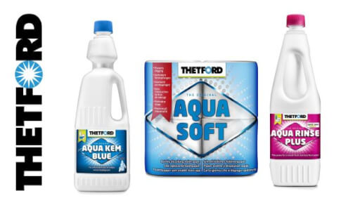 Zestaw płynów Aqua Kem Blue 2l + Aqua Rinse Plus 1.5L + Papier Toaletowy Aqua Soft 4 Thetford