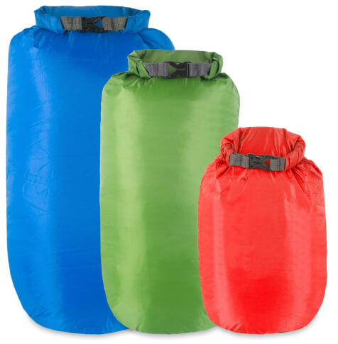 Zestaw mocnych worków wodoodpornych Dry Bag Multipack 5,10,15 Litres Lifeventure