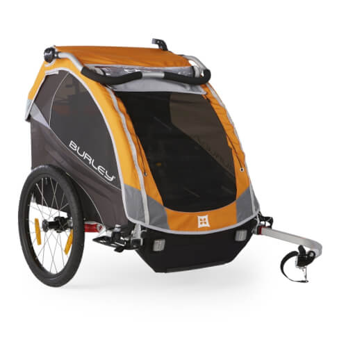 Przyczepka rowerowa Burley D'LITE pomarańczowa