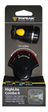 Zestaw lampek rowerowych Topeak High Lite Combo II Black (White Lite II + Red Lite II)