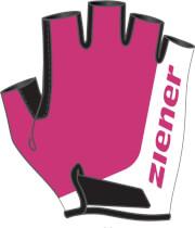Rękawiczki rowerowe dziecięce Ziener Corrie Junior różowe