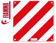 Tablica ostrzegawcza 50x50 cm Włochy Alu Signal Fiamma