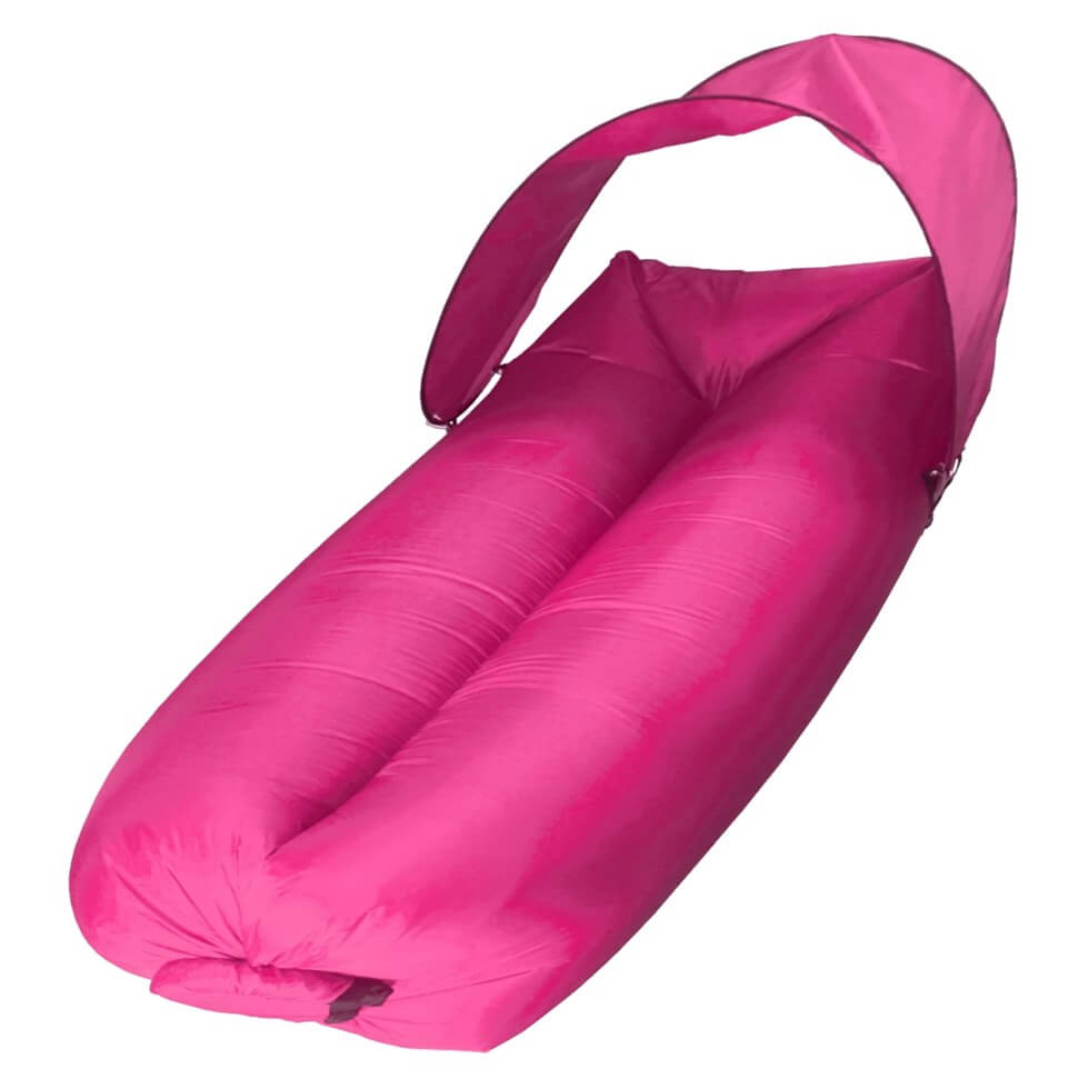 sofa dmuchana powietrzem bez pompki z daszkiem różowa sunan