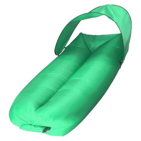 Sofa dmuchana powietrzem Sunen z baldachimem ciemno zielona