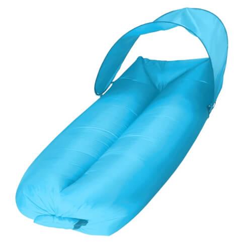 Sofa dmuchana powietrzem Sunen z baldachimem niebieska