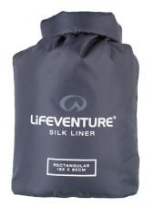 Najlżejsza jedwabna wkładka Silk Liner Lifeventure prostokątna szara