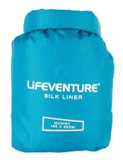 Najlżejsza jedwabna wkładka Silk Sleeping Bag Liner Lifeventure mumia aqua