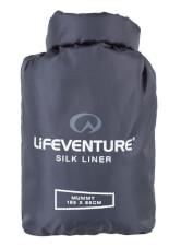 Najlżejsza jedwabna wkładka Silk Sleeping Bag Liner Lifeventure mumia szara