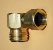Redukcja kątowa do butli gazowej 3/8 LH x W21.8 LH