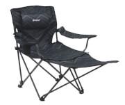 Krzesło kempingowe z podnóżkiem - Windsor Hills Black