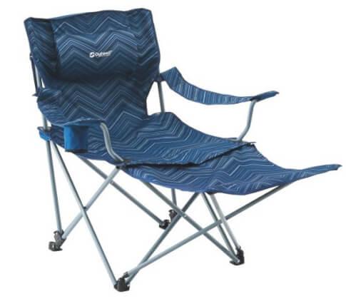 Krzesło kempingowe z podnóżkiem Windsor Hills Blue