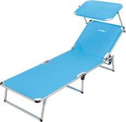 Łóżko plażowe z daszkiem przeciwsłonecznym Malibu Brunner niebieskie