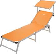 Regulowane łóżko plażowe z daszkiem przeciwsłonecznym Marbella Brunner pomarańczowe