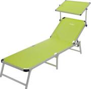 Regulowane łóżko plażowe z daszkiem Marbella Brunner zielone