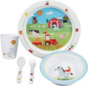 Zestaw naczyń dla dzieci 3+ Brunner Kid Set Farm Boy