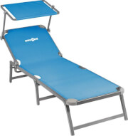 Regulowane łóżko plażowe z daszkiem przeciwsłonecznym Paradise Brunner niebieskie