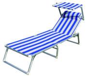 Regulowane łóżko-leżak z daszkiem przeciwsłonecznym Sun Comfort III