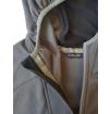 Rozpinana bluza polarowa męska HEYOO Milo dark grey