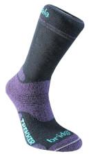 Skarpety trekkingowe średniej grubości Trekker Lady Bridgedale Black Purple