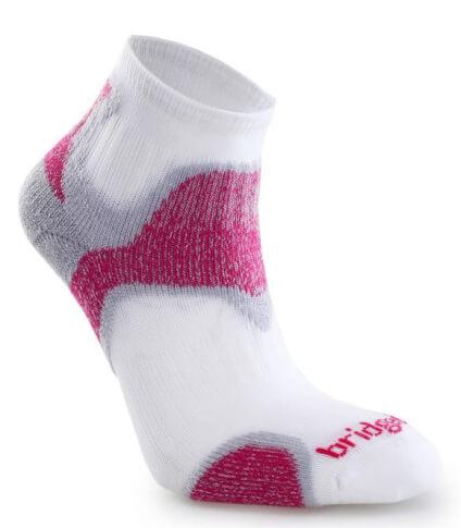 Oddychające skarpety dla biegaczy Speed Diva CoolFusion™ Bridgedale Dusky Pink