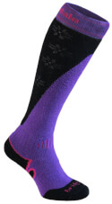 Komfortowe skarpety narciarskie Ski Mountain Lady MerinoFusion Bridgedale Purple Black