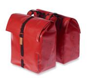 Wodoodporna torba rowerowa podwójna Urban Dry Double Bag, 50 l Basil Czerwona