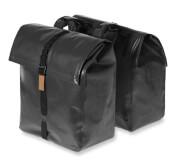 Wodoodporna torba rowerowa podwójna Urban Dry Double Bag, 50 l Basil Czarny