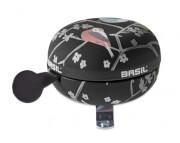Dzwonek rowerowy Basil Big Bell Wanderlust 80 mm Czarny