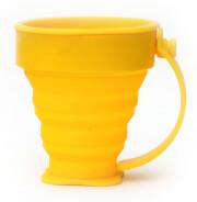 Składany kubek silikonowy żółty Rockland