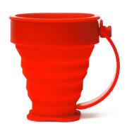 Składany kubek silikonowy czerwony Rockland