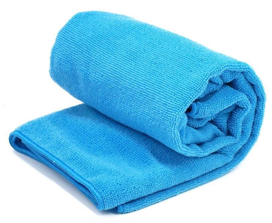 ręcznik plażowy z pokrowcem niebieski Rockland