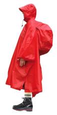 Ochronne ponczo na deszcz Rockland Storm czerwone