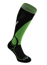 Uniwersalne skarpety narciarskie Vertige Mid MerinoFusion Bridgedale Black - Green