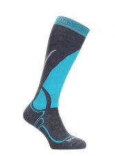 Uniwersalne skarpety narciarskie Vertige Mid Lady MerinoFusion Bridgedale Gunmetal - Turquoise