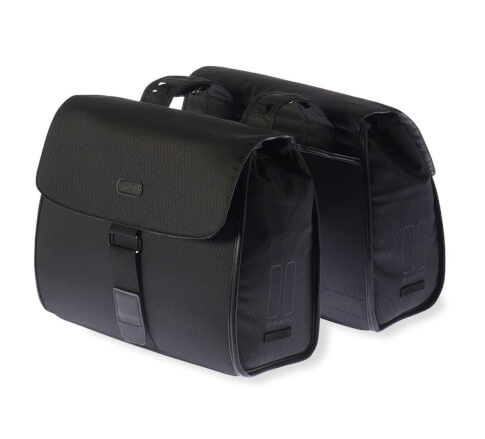 Podwójne torby boczne Noir Double Bag, midnight black, Basil