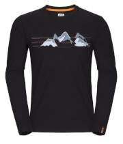 Koszulka męska Zajo Bormio T-shirt LS Black Mountains
