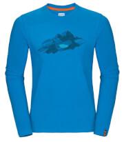 Koszulka męska Zajo Bormio T-shirt LS Blue Jewel Nature