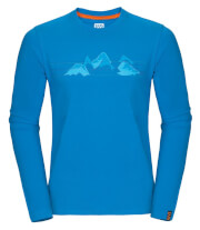 Koszulka męska Zajo Bormio T-shirt LS Blue Jewel Mountains