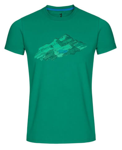 Koszulka męska Zajo Bormio T-shirt SS Grass Green Nature