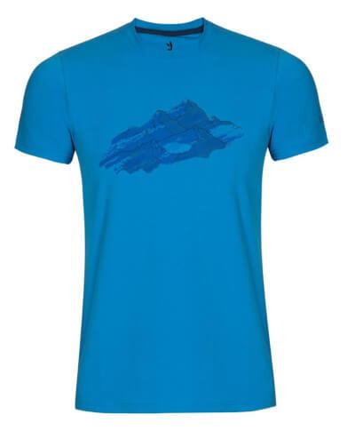 Koszulka męska Zajo Bormio T-shirt SS Ibiza Blue Nature