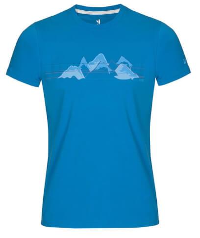 Koszulka męska Zajo Bormio T-shirt SS Ibiza Blue Mountains