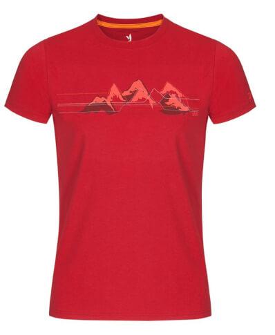 Koszulka męska Zajo Bormio T-shirt SS Chilli Mountains