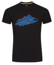Koszulka męska Zajo Bormio T-shirt SS Black Nature