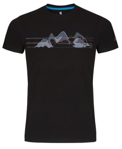Koszulka męska Zajo Bormio T-shirt SS Black Mountains