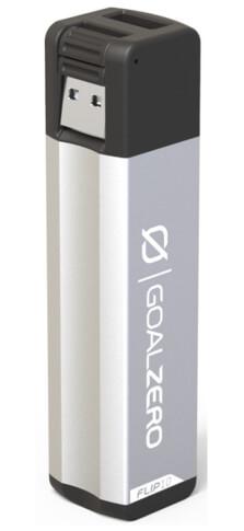 Mały powerbank z USB 2600 mAh FLIP 10 Goal Zero srebrny