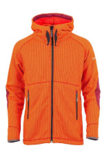 Miejska kurtka polarowa z kapturem AMUN Milo Orange