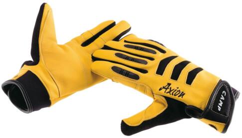 Skórzane rękawice do asekuracji Axion Camp żółte