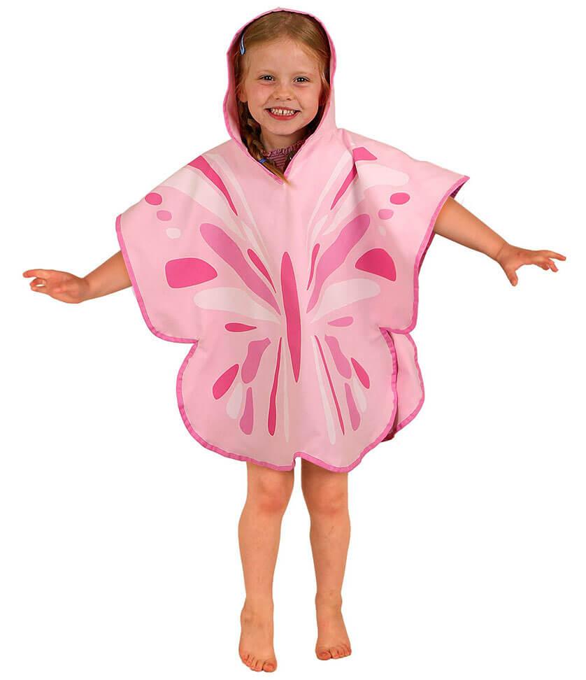 poncho ręcznik motylek little life z ochroną przeciwsłoneczną 50 uv